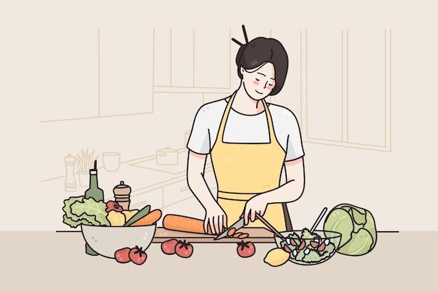 Gesundes ernährungs- und lebensstilkonzept Premium Vektoren