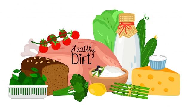 Gesundes ernährungskonzept