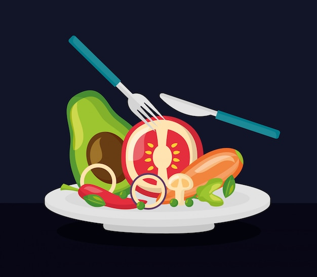 Gesundes essen frisch