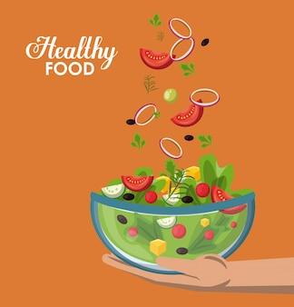 Gesundes essen konzept