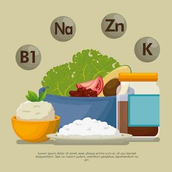 Gesundes essen mit nährwertangaben