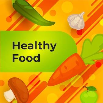 Gesundes essen und bio-mahlzeit, gemüsebanner