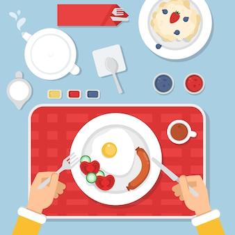 Gesundes essen zum frühstück