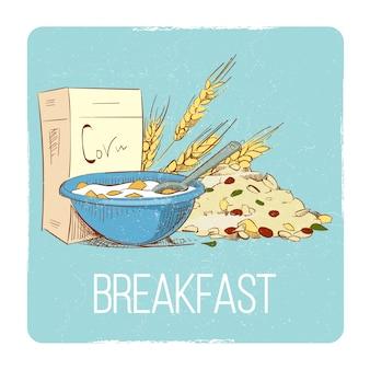 Gesundes frühstück konzept