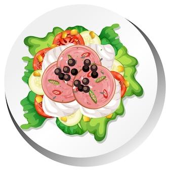 Gesundes frühstücksgericht isoliert