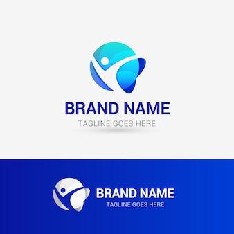 Gesundes leben natur logo