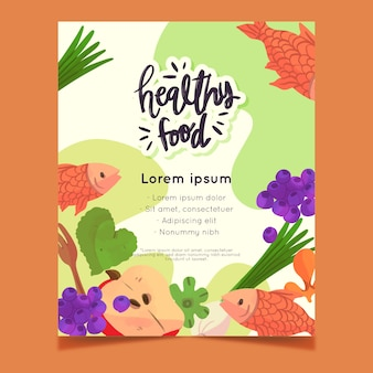 Gesundes lebensmittel flyer design