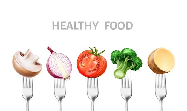 Gesundes lebensmittelkonzept