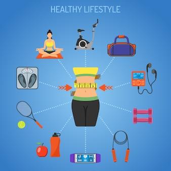 Gesundes lebensstilkonzept