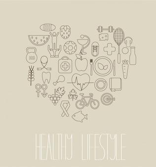 Gesundes lifestyle-konzept.