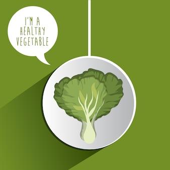 Gesundes Nahrungsmittelkonzept mit organischen Produkten