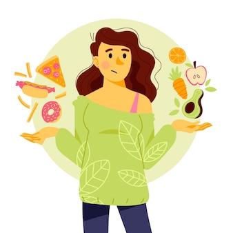 Gesundes oder ungesundes essen