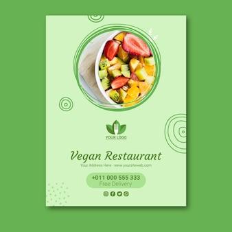Gesundes restaurantplakat