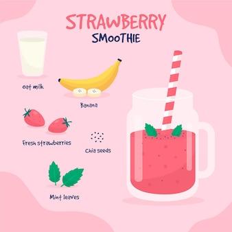 Gesundes smoothie-rezept mit banane