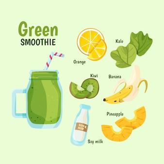 Gesundes smoothie-rezept mit orange