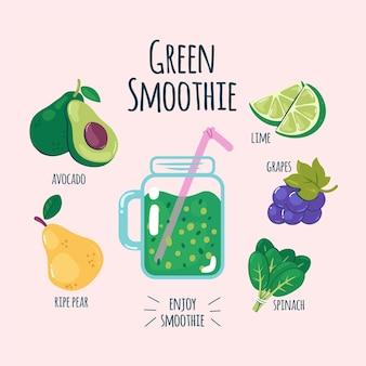 Gesundes smoothie-rezept