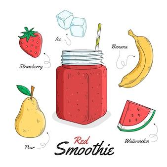 Gesundes smoothie-rezeptthema