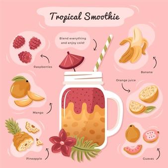 Gesundes tropisches smoothie-rezept