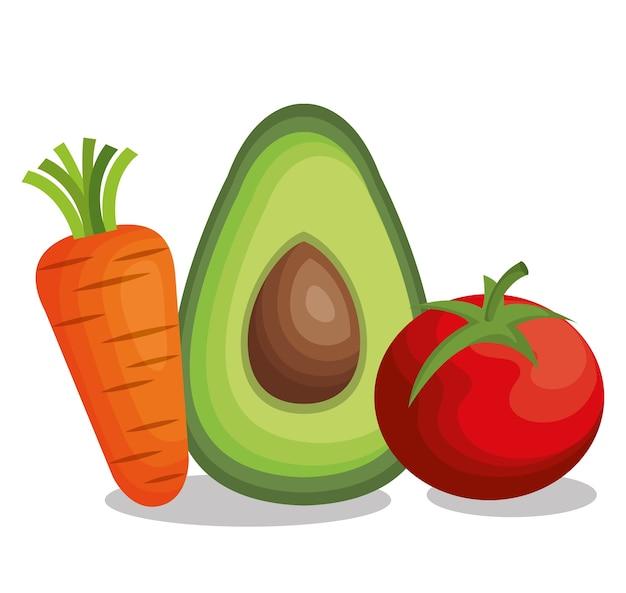 Gesundes und frisches gemüse