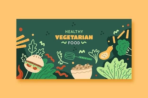 Gesundes vegetarisches essen facebook-post