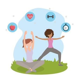 Gesundheit fitness cartoon