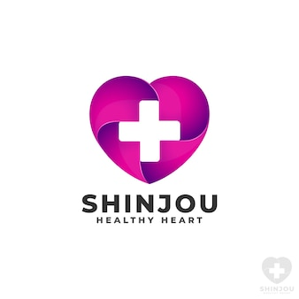 Gesundheit herz logo vorlage