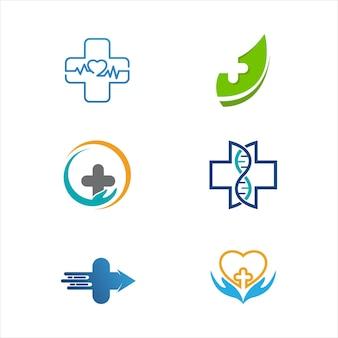 Gesundheit medizinische symbolschablonen-vektor-illustrationsdesign