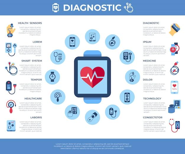 Gesundheit sensor icons sammlung