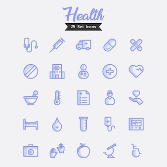 Gesundheits-ikonen-moderner art