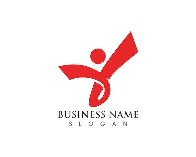 Gesundheitserfolgsleute kümmern sich logo und symbole