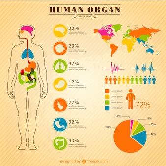 Gesundheitsinfografik-elemente gesetzt