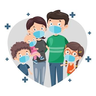 Gesundheitskonzept von menschen, die medizinische masken tragen