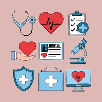 Gesundheitsmedizinisches set