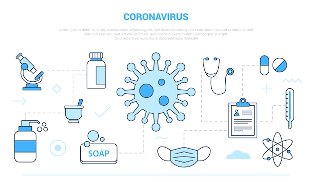 Gesundheitsproblem mit dem coronavirus-virus