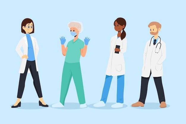 Gesundheitsprofessionelles teamkonzept
