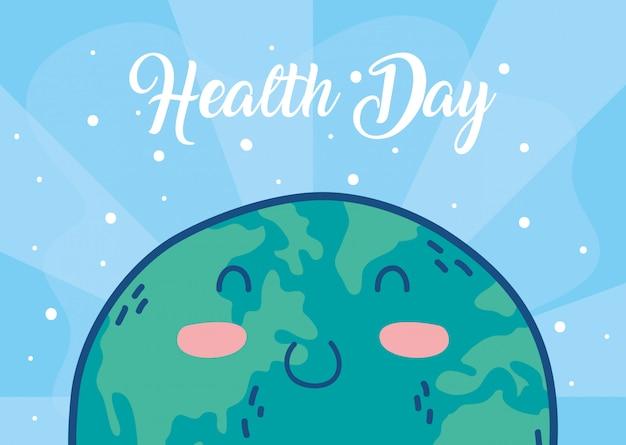 Gesundheitstag-feierplakat mit erdcharakter