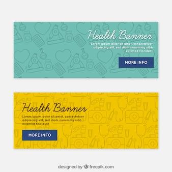Gesundheitstag skizziert banner