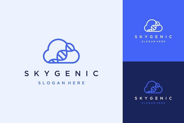 Gesundheitstechnologie-design-logo oder cloud mit dna