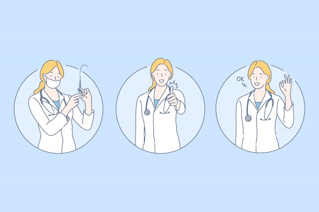 Gesundheitswesen, gesetztes konzept des doktors