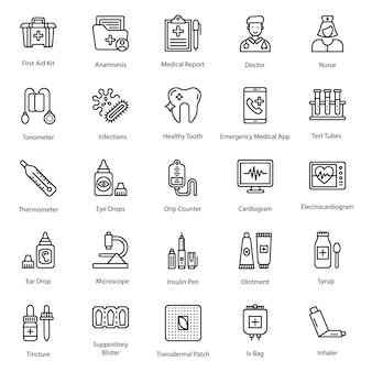 Gesundheitswesen icons pack