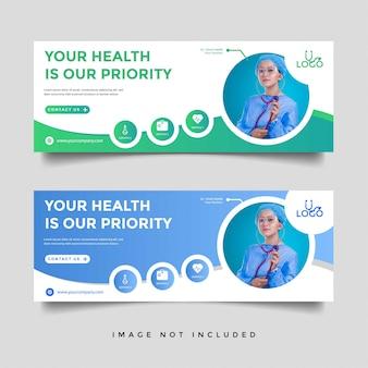 Gesundheitswesen & medizinische banner promotion vorlage