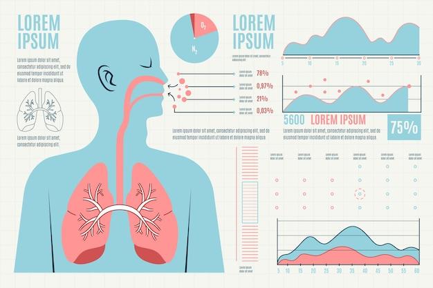 Gesundheitswesen medizinische infographik