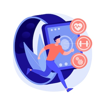 Gesundheitswesen tracker wearables und sensoren abstrakte konzeptillustration