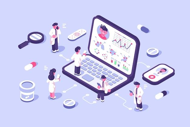 Gesundheitswesen und innovative technologie der online-diagnose