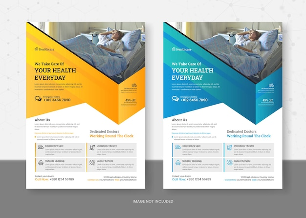 Gesundheitswesen und medizinische flyer-vorlage