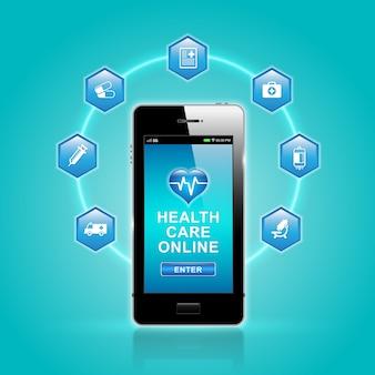 Gesundheitswesen und medizinische online per smartphone auf app