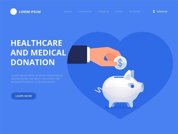 Gesundheitswesen und medizinische spende
