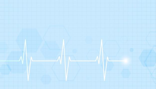 Gesundheitswesen und medizinischer hintergrund mit herzschlaglinie