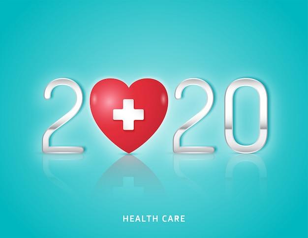 Gesundheitswesen und medizinisches konzept herz- und gesundheitsuntersuchung für das jahr 2020