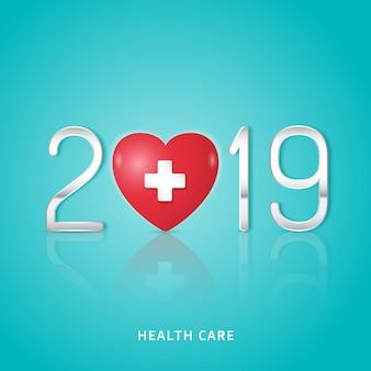 Gesundheitswesen und medizinisches neues jahr 2019